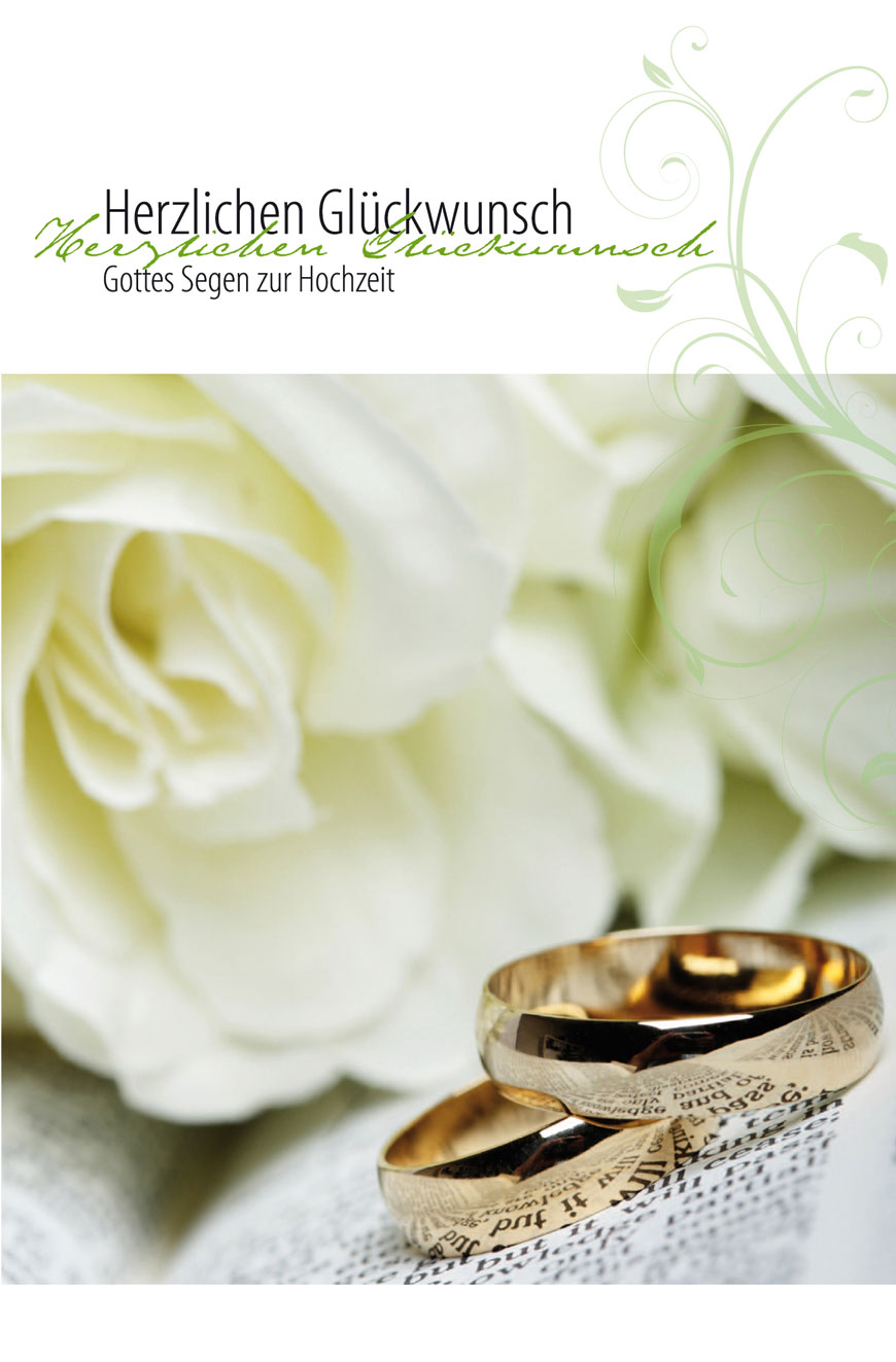 Faltkarte Herzlichen Gluckwunsch Zur Hochzeit 4youmedia